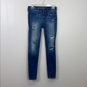 American Eagle distressed skinny fit jegging jeans